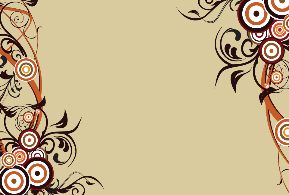 お洒落な草木のシルエットフレームの薄茶色の背景素材 Ai Epsのイラレ イラストレーターのベクター背景素材集が全て無料で商用ok