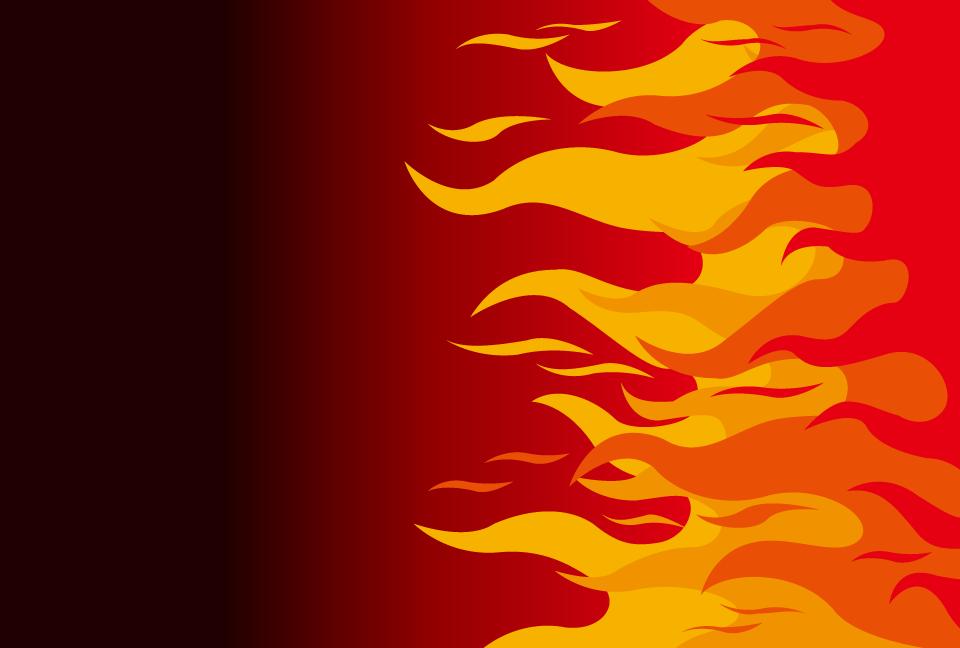 炎火イメージの赤色の背景素材aiepsのイラレイラストレーターの
