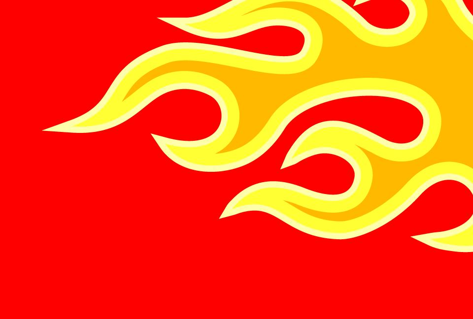 炎のイラストの赤色の背景素材aiepsのイラレイラストレーターの